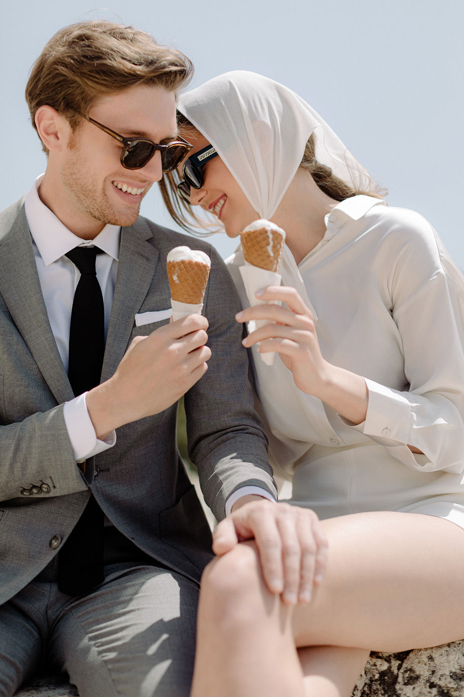Wedding Proposal In Athens - Ice Cream
