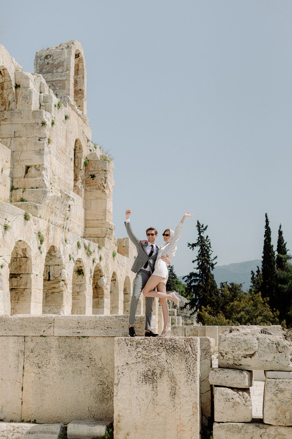 Wedding Proposal In Athens - Herodion Theatre