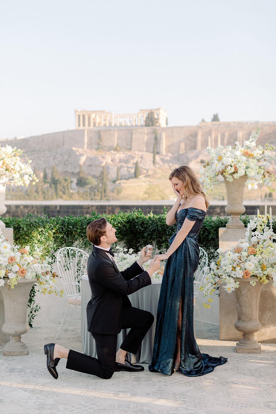 Wedding Proposal In Athens